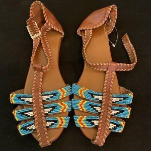 Size 8 ecote beaded sandals